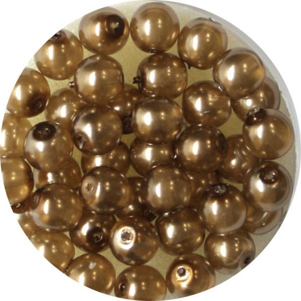 Crystal Pearl Renaissance, 6mm, 40 Stück, braun