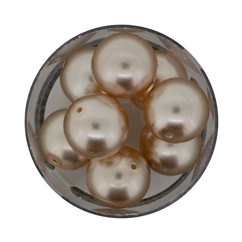 Pearl Renaissance, 14mm, 8 Stück, hellbraun