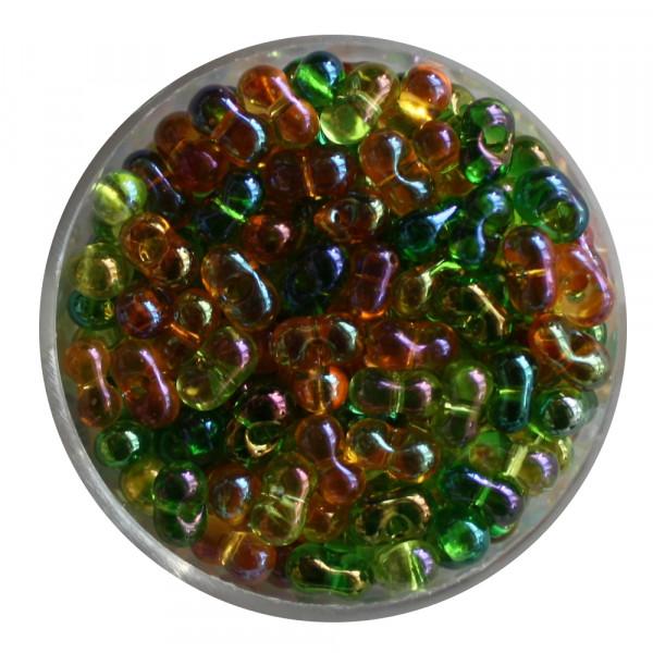 Farfalle, Rainbow AB, 6,5mm, 17gr Dose, braun-grünton
