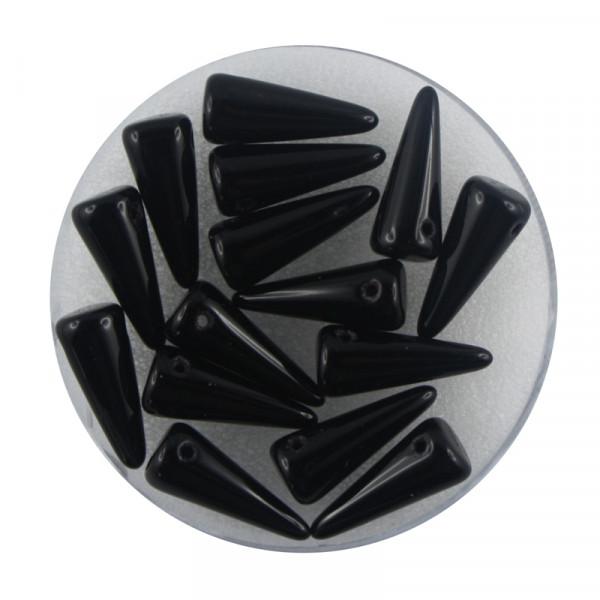 Spike Beads,5x13mm,15 Stück,jet