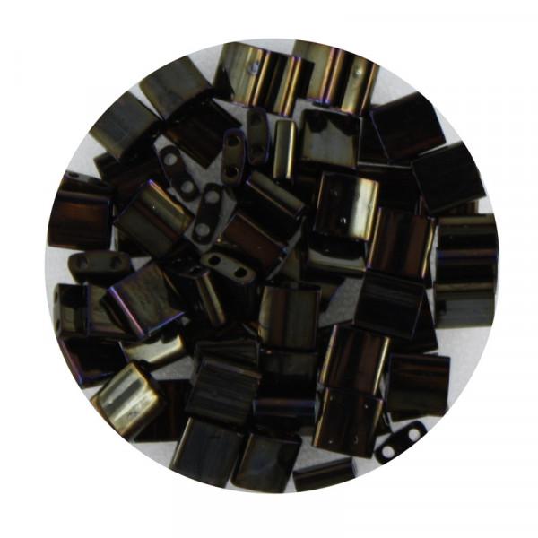 Tila-Beads, 2-loch Viereck, 6gr. Dose,bronze metallic
