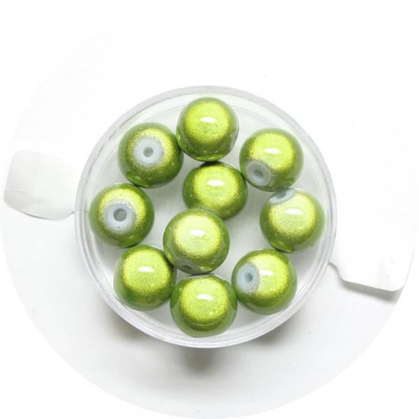 Miracle-Beads Glasperlen, 10 Stck., 10mm, hellgrün