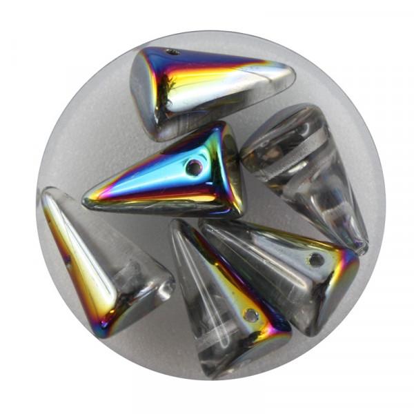 Spike Beads,12x18mm,6 Stück,vitrail