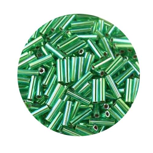Miyuki-Stifte, 6mm, 10gr. Dose,silverlined rainbow green