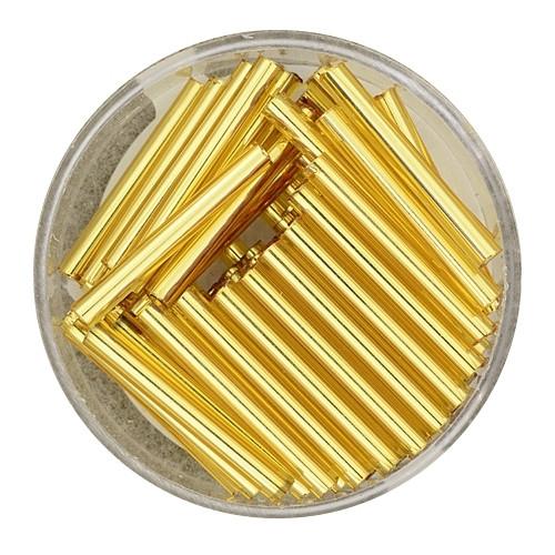 Glasstift, Goldeinzug, 25 mm, 12gr. Dose, kristall