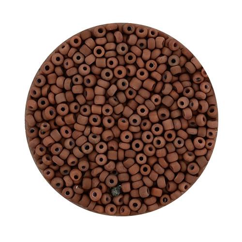 Rocailles aus China, 17gr. Dose, 2,6mm, braun matt