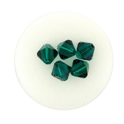Swarovski Doppelkegel, 8 mm, 5 Stück,emerald