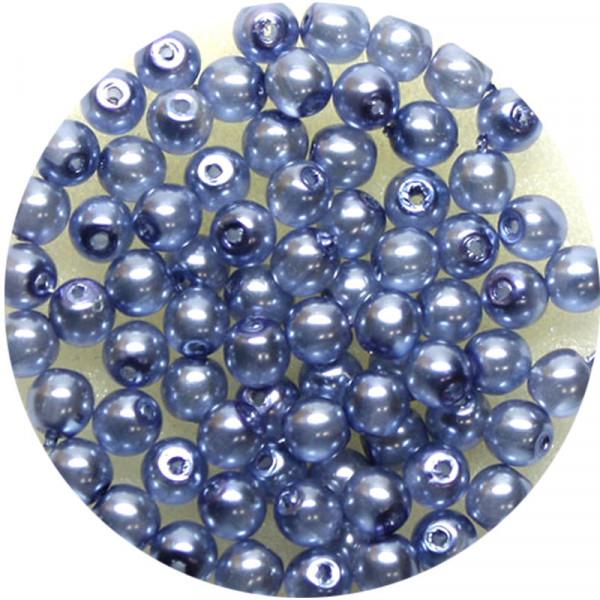 Crystal Pearl Renaissance, 4mm, 75 Stück, blau