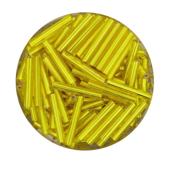 Glasstift, Silbereinzug, 15 mm, 17gr. Dose, gelb