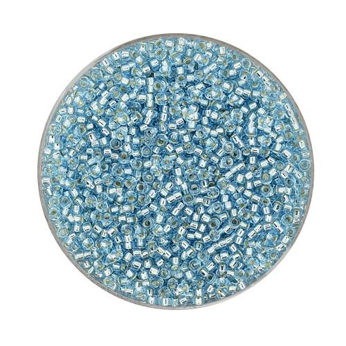 Miyuki-Beads,15/0 (1,5mm),10gr Dose,silverlined aqua
