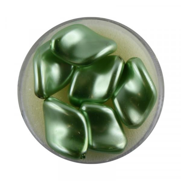 Pearl Renaissance, 19x13mm, 6 Stück, hellgrün