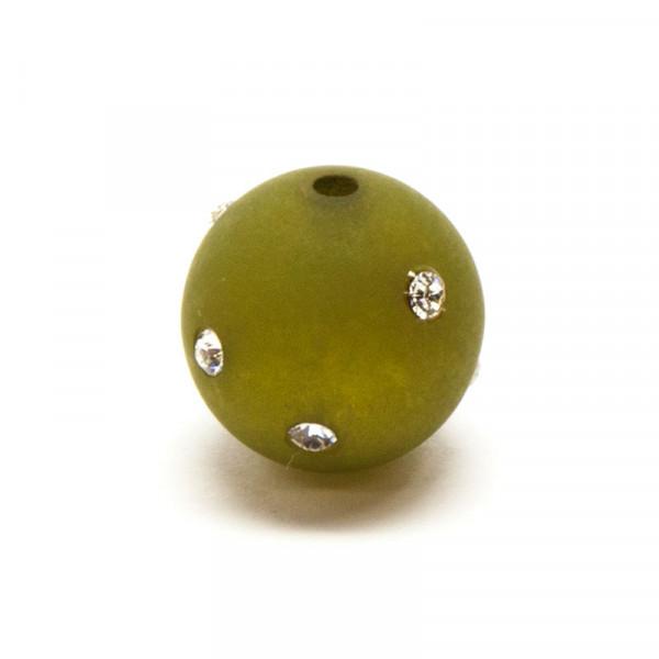 Polaris Strassperlen, 14mm, oliv