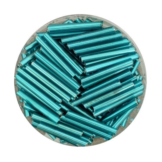 Glasstift, Silbereinzug, 15 mm, 17gr. Dose, türkis
