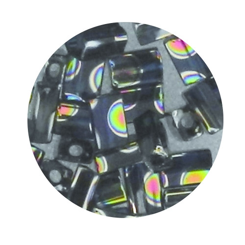 Glasperle, Rechteck, 5 mm, 7gr. Dose, aqua dunkel