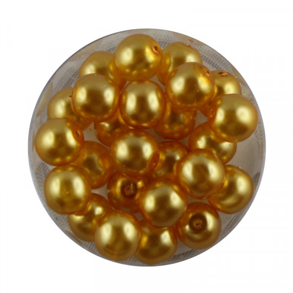 Crystal Pearl Renaissance, 8mm, 25 Stück, gelb