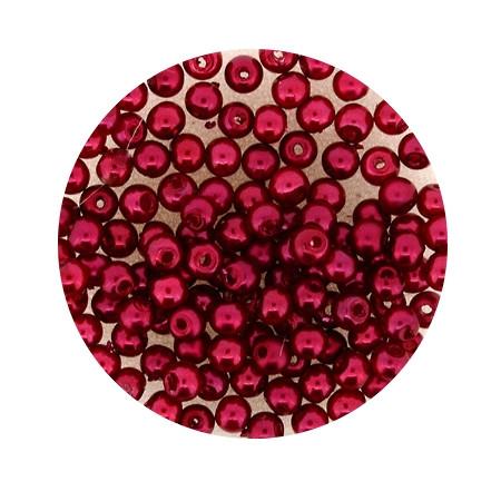 Pearl Renaissance, 3mm, 120 Stück, rot