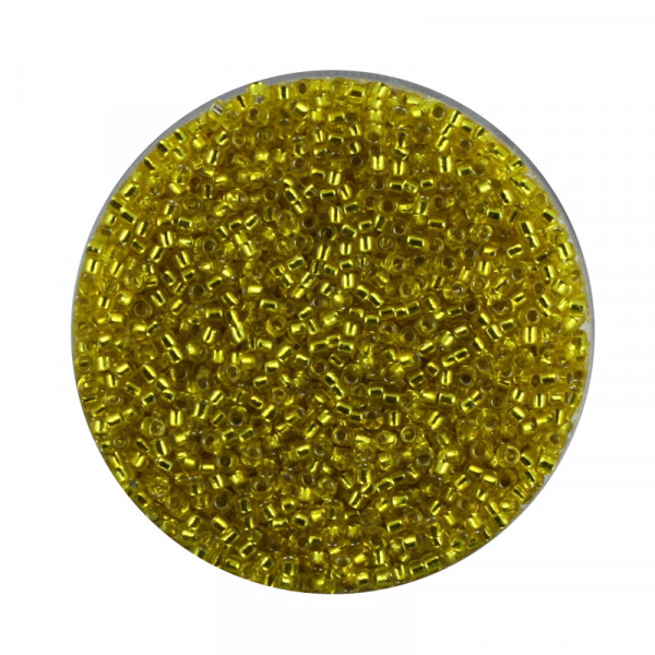 Miyuki-Beads,15/0 (1,5mm),10gr Dose,silverlined yellow