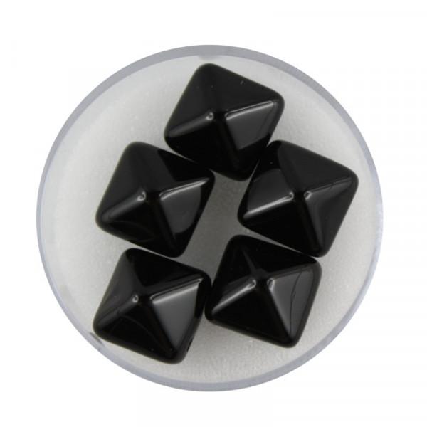 Pyramide, 2-Loch, 5 Stück, schwarz