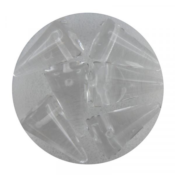 Spike Beads,12x18mm,6 Stück,kristall