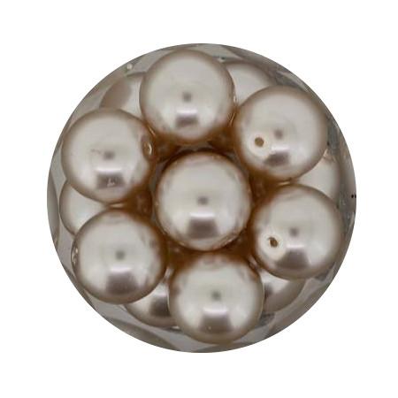 Pearl Renaissance, 12mm, 14 Stück, hellbraun