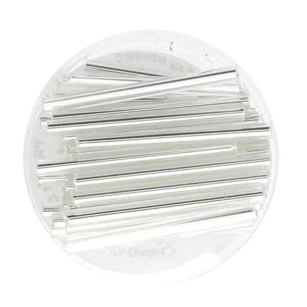 Glasstift, Silbereinzug, 30 mm, 12gr. Dose, kristall