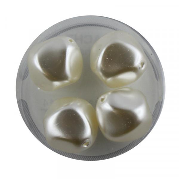 Pearl Renaissance, 17mm, 4 Stück, weiß