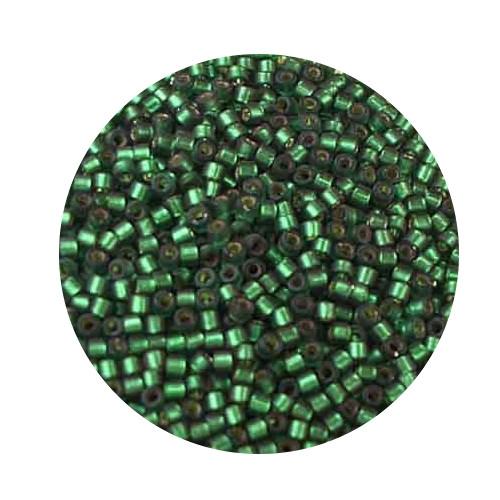 Miyuki Delicas, 11/0 (2,0mm), 7gr. Dose,silverlined dark green