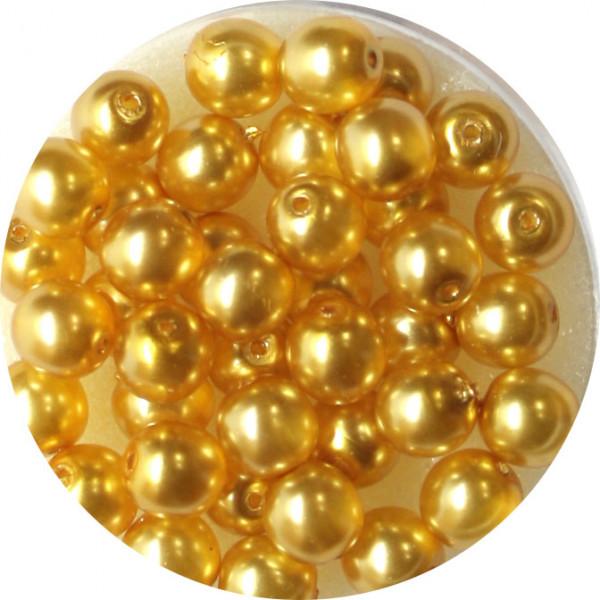 Crystal Pearl Renaissance, 6mm, 40 Stück, gelb