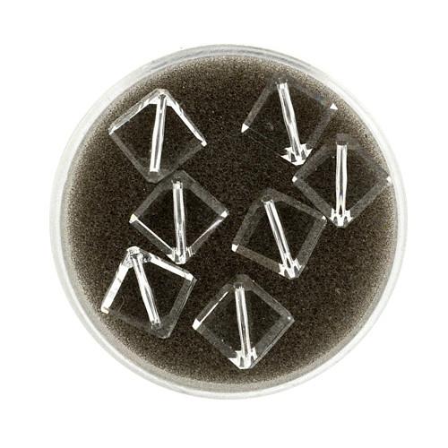 Swarovski Würfel, diagonal gestochen, 8mm, crystal