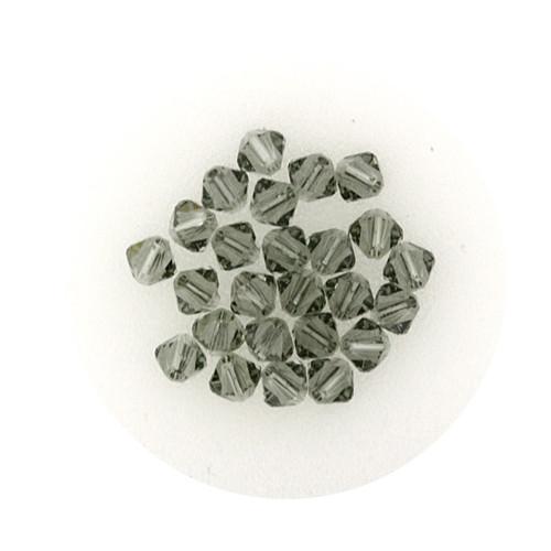 Swarovski Doppelkegel, 4 mm, 25 Stück,black diamond
