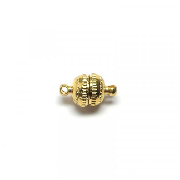 Magnetverschluss, 8 mm, goldfarben