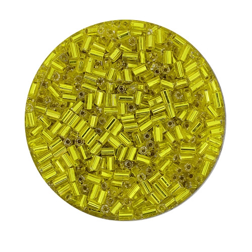 Glasstift, Silbereinzug, 2 mm, 17gr. Dose, gelb