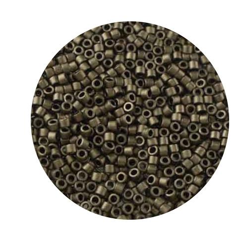 Miyuki Delicas, 11/0 (2,0mm), 4gr. Dose,dark bronze matt
