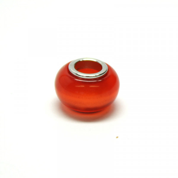 Polaris Großlochperlen, 8x12mm, orange