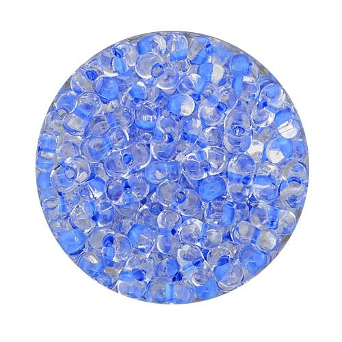 Farfalle, Farbeinzug glanz, 6,5 mm, 17gr Dose, kristall-blau