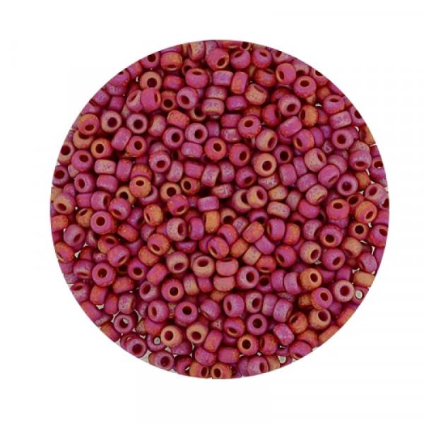 Miyuki Rocailles 2,2 mm - matt ruby rainbow